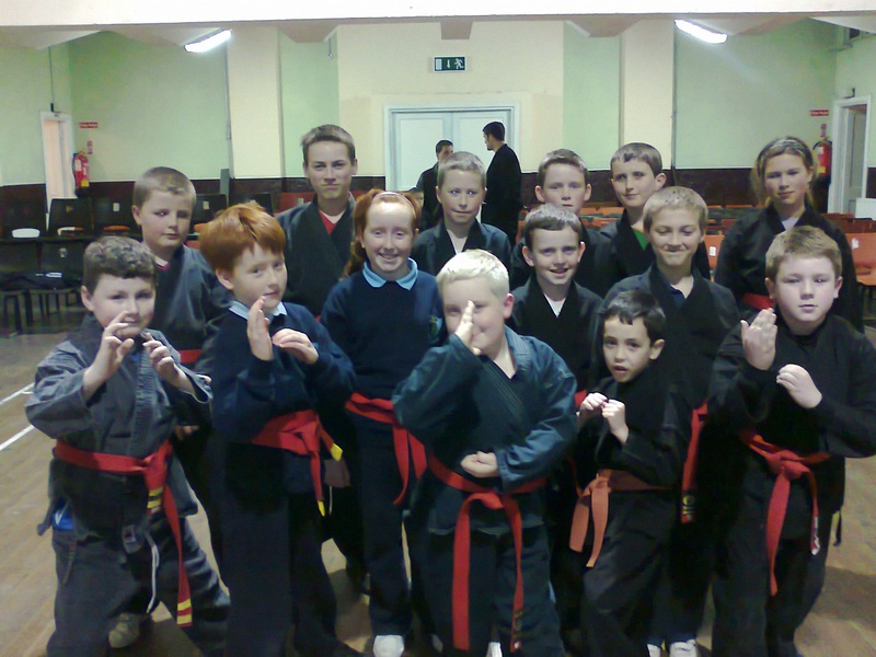 Red Belt students