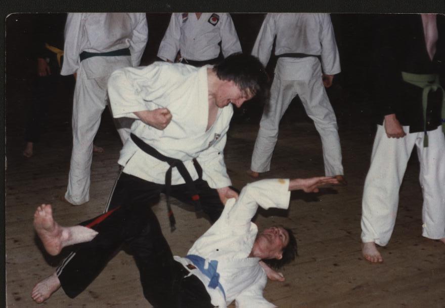 Sensei Keating Doing Technique